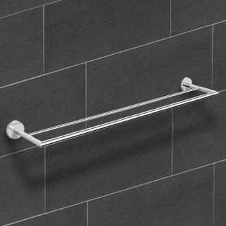 25 Inch Polished Chrome Double Towel Bar Nameeks NNBL0026