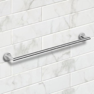 25 Inch Polished Chrome Towel Bar Nameeks NNBL0035