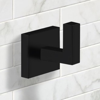 Modern Square Bathroom Hook in Black Finish Nameeks NNBL0054