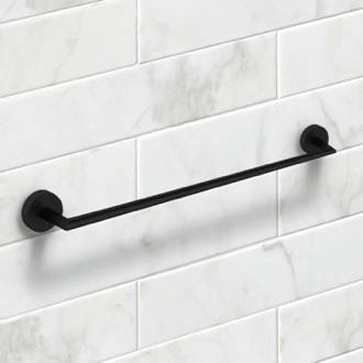 24 Inch Matte Black Towel Bar Nameeks NNBL0081
