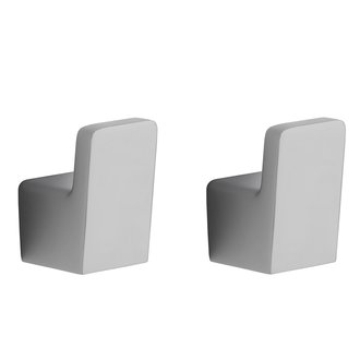 Pair of Modern Chrome Bathroom Hooks Nameeks HC03
