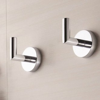 Set of Polished Chrome Bathroom Hooks Nameeks HC08