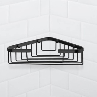Matte Black Corner Shower Basket Nameeks NFA033