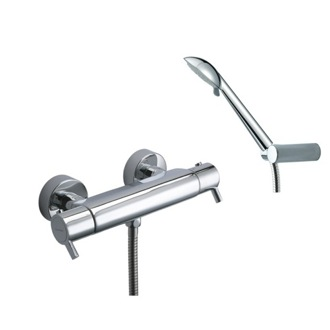 Tub Filler Thermostatic Wall Mounted Shower Mixer with Hand Shower Set US-3334R3 Ramon Soler US-3334R3
