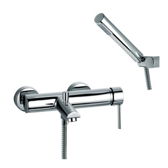 Tub Filler Wall Mount Tub Mixer with Hand Shower Set and Automatic Diverter US-3305D Ramon Soler US-3305D