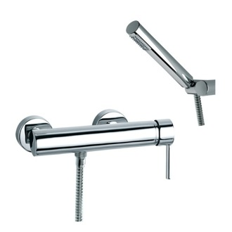 Tub Filler Wall Mount Shower Mixer with Single Lever and Hand Shower Set US-3308D Ramon Soler US-3308D