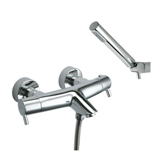 Tub Filler Wall Mounted Thermostatic Tub and Shower Mixer with Hand Shower Set US-3339D Ramon Soler US-3339D