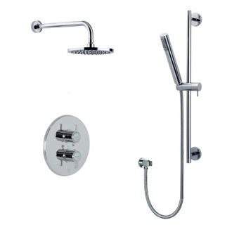Shower Set Thermostatic Mixer 4 piece Shower Set with Rough - Shower Rail--Shower Head US-3344D Ramon Soler US-3344D