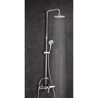 Shower Column Thermostatic Shower and Tub Mixer with Rainhead and Hand Shower Set US-3356RPN Ramon Soler US-3356RPN