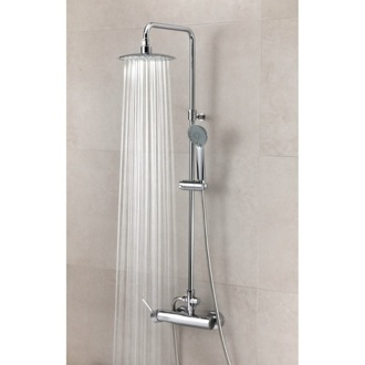 Showerpipe System Wall Mounted Shower Column with Hand Shower Set and Rainhead US-3358RPN Ramon Soler US-3358RPN