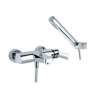 Tub Filler Single Lever Wall Mounted Tub Mixer with Shower Hand Set US-9305D Ramon Soler US-9305D