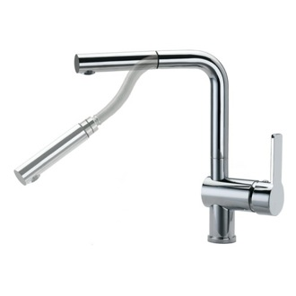 Kitchen Sink Faucet Brass Single Hole Kitchen Sink Faucet With Swivel and Pull-Down Spout US-9319 Ramon Soler US-9319