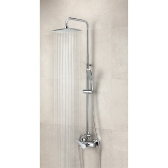 Showerpipe System Wall Mounted Shower Mixer with Rainhead and Hand Shower Set US-9358RPK Ramon Soler US-9358RPK