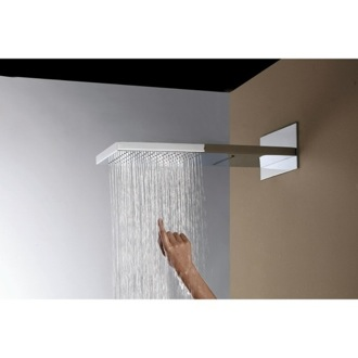 Shower Head Brass Wall Mounted Shower Head with Two Fuctions Rainhead and Cascade US-RLC Ramon Soler US-RLC