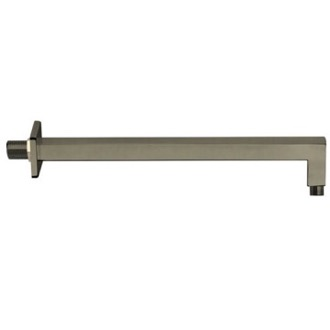 Square 12 Inch Shower Arm in Satin Nickel Finish Remer 348S30US-NP