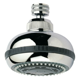 Shower Head Chrome Finished Shower Head With 5 Functions Remer 357RO