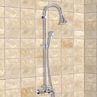 Showerpipe Systems Chrome Wall Mounted Showerpipe System Remer 37LI