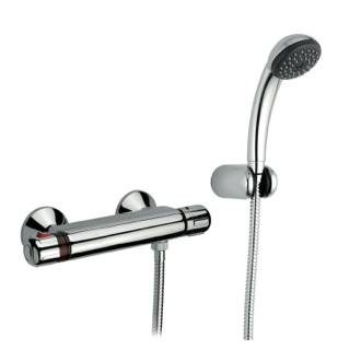 Shower Faucet Thermostatic Shower Mixer with Hand Shower and Holder Remer H39DUS
