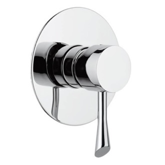 Diverter Built-In Shower Mixer With Single Lever and Deluxe Flange Remer J30L