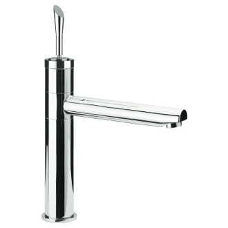 Bathroom Faucet Single-Lever Sink Mixer With Movable Spout In Chrome Finish Remer J40