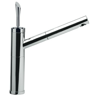 Kitchen Faucet One Hole Sink Mixer With Pull-Out Spray Jet and Single Lever Remer J47