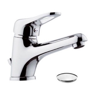 Bathroom Faucet Single-Lever Bathroom Faucet With Long Spout and Pop-Up Waste Remer K10LP