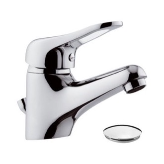 Bathroom Faucet Chrome Single-Lever Bathroom Faucet With Pop-Up Waste Remer K10P