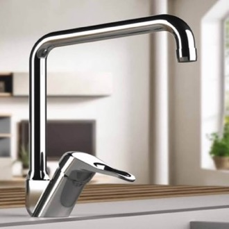Chrome Sink Faucet with Swivel Spout Remer K42U