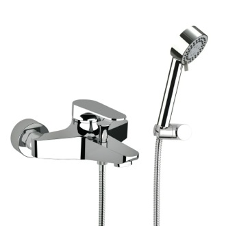 Tub Filler Bath Shower Mixer With Hand Shower and Shower Bracket Remer L02US