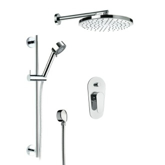 Shower Faucet All Inclusive Shower Set With Shower Head, Sliding Rail, And Hand Shower Remer L09LS01US