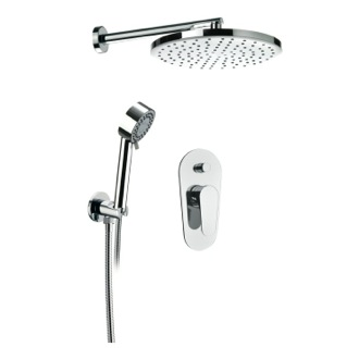 Shower Faucet Chrome Shower Set With Shower Head, Hand Shower and Mixer Remer L09LS02US