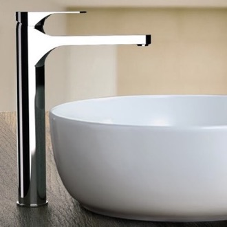 Chrome Round Vessel Sink Faucet Remer L10LXLUSNL-CR