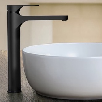 Matte Black Round Vessel Sink Faucet Remer L10LXLUSNL-NO