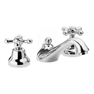 Bathroom Faucet Deck Mount Washbasin Set With Pop-Up Waste In Chrome Remer LI11US