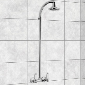 Wall-Mounted Shower Head Column In Chrome Finish Remer LR36US