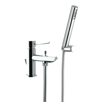 Tub Filler Single-Lever One Hole Tub Filler With Hand Shower Remer N03