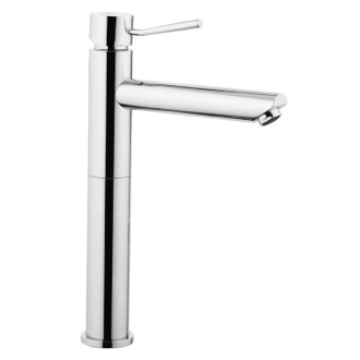 Bathroom Faucet Tall Chrome Faucet With Single Lever and 10 Inch Neck Remer N11LXL