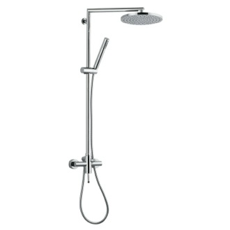 Showerpipe System Wall-Mounted Shower System With Overhead Shower, Sliding Rail, and Hand Shower N37BXL Remer N37BXL