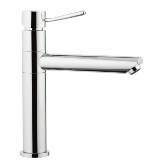 Bathroom Faucet Chrome Single-Lever Sink Mixer With Movable Spout Remer N40