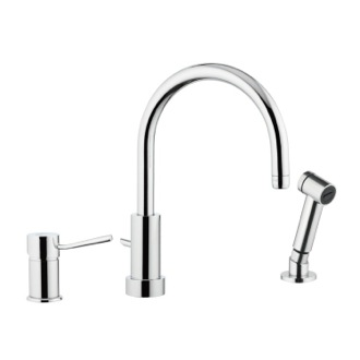 Kitchen Faucet Single-Lever Deck Mounted Sink Mixer In Chrome Finish Remer N48332EU