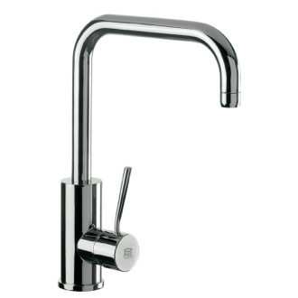 Kitchen Sink Faucet Round Body Sink Mixer With High Movable U-Spout and Single Side Lever N72US Remer N72US