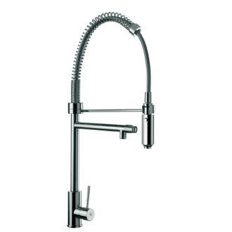 Sink Mixer With Round Body, Double Water Outlet and Hand Spray Remer N78US