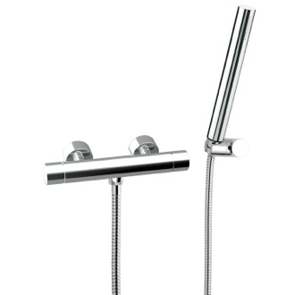 Shower Faucet Thermostatic Single Lever Shower Mixer With Hand Shower and Bracket Remer NT39US