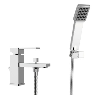 Tub Filler Bath and Sink Mixer With Hand Shower and Shower Bracket Remer Q03US