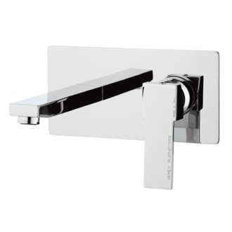 Bathroom Faucet Brass Rectangular Built in Basin Mixer in Chrome Remer Q15US