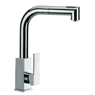 Kitchen Sink Faucet Sink Mixer With Square Body And Removable Corner Shaped Hand Spray Q82US Remer Q82US