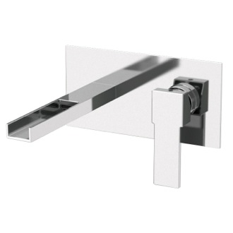 Bathroom Faucet Rectangular Built in Basin Mixer with Waterfall Spout Remer QC15US