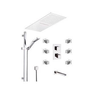 Chrome Wall Mounted Tub and Shower Faucet Remer QTC95S04UFCA