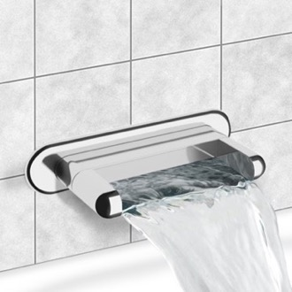 Tub Spout Chrome Wall Mount Waterfall Tub Spout Remer 91NC