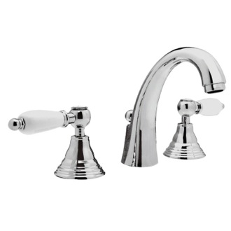 Bathroom Faucet Three Hole Washbasin Faucet With Cast Spout and Pop-Up Waste LR11CUS Remer LR11CUS